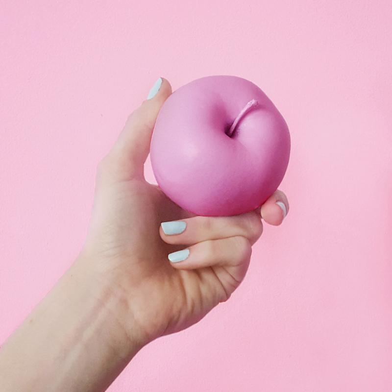 Apple hand fruit paint