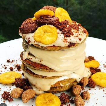 Banana food pancake
