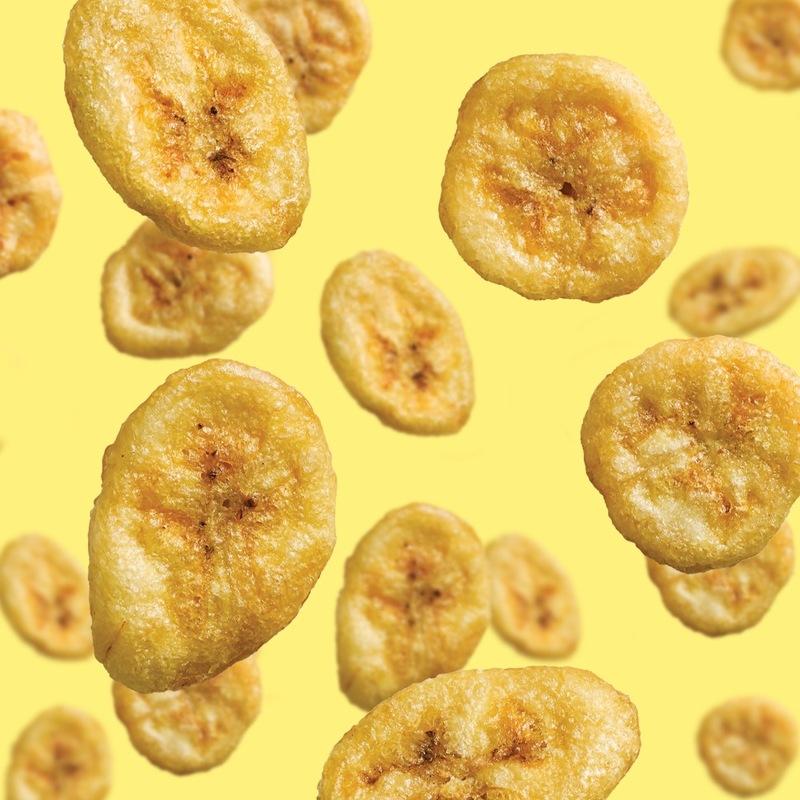 Banana rain crisps focus