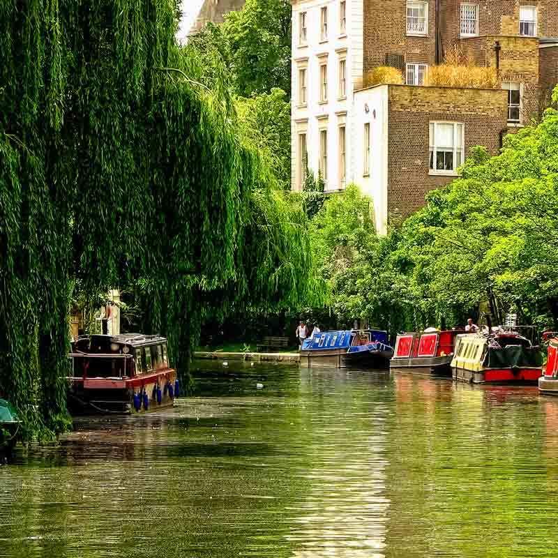 Regent's canal between camden lock and regent's park