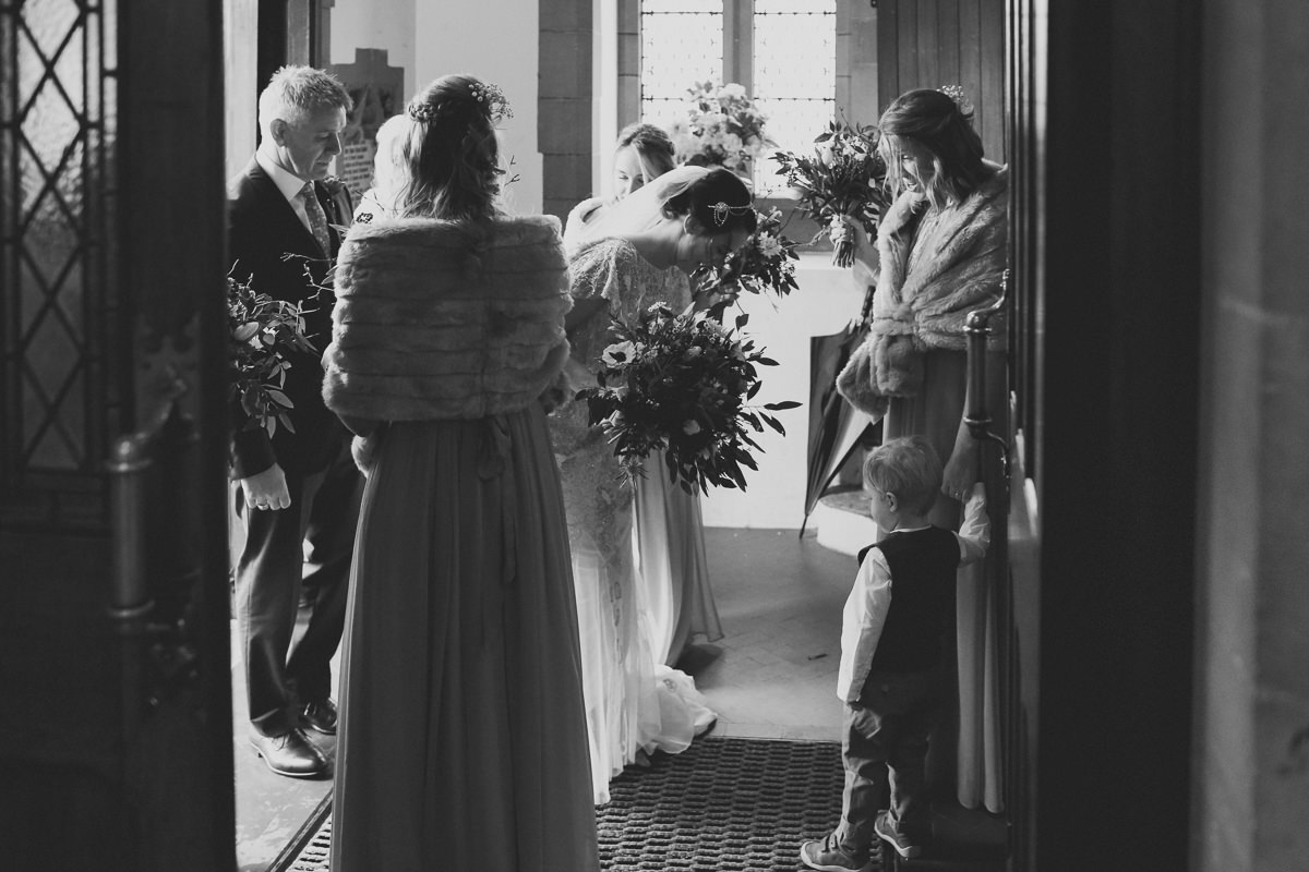 Brides Arrival Natural Photography