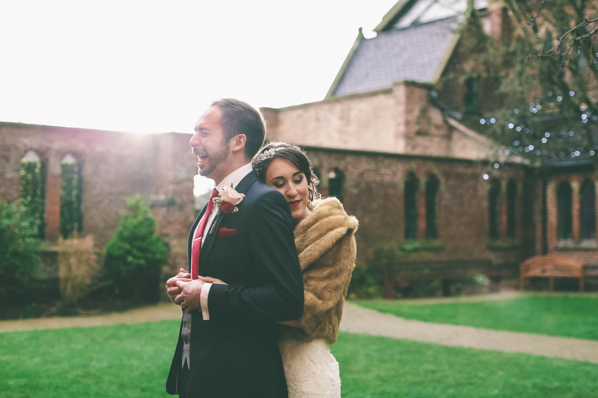 Winter Wedding at Gorton Monastery