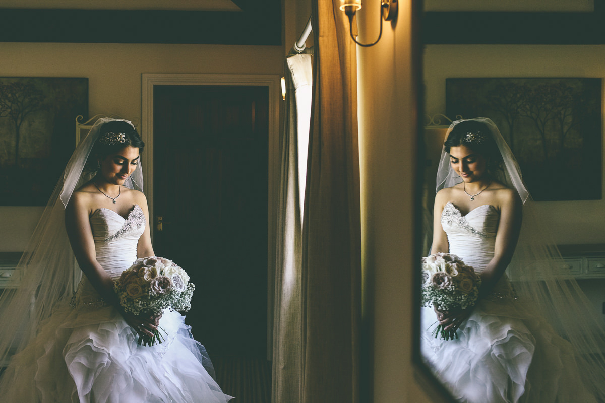 Bridal Portrait Sandhole Oak Barn