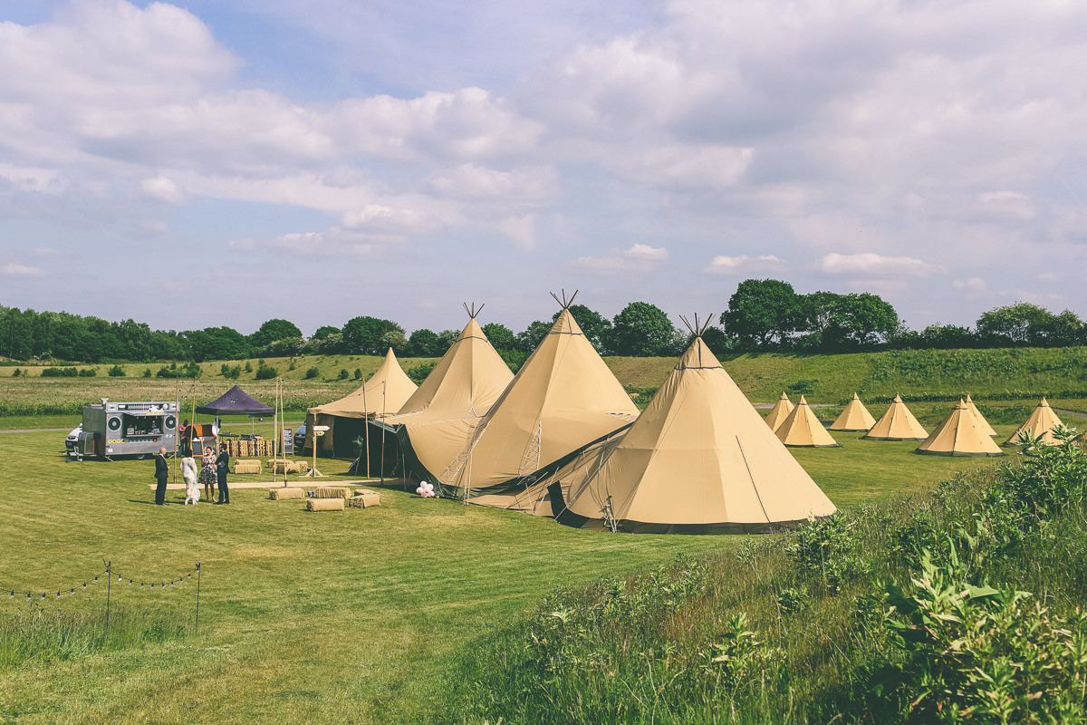 Festival Wedding at Cherry Orchard Farm