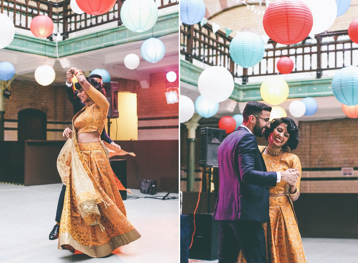 Colourful Victoria Baths Wedding