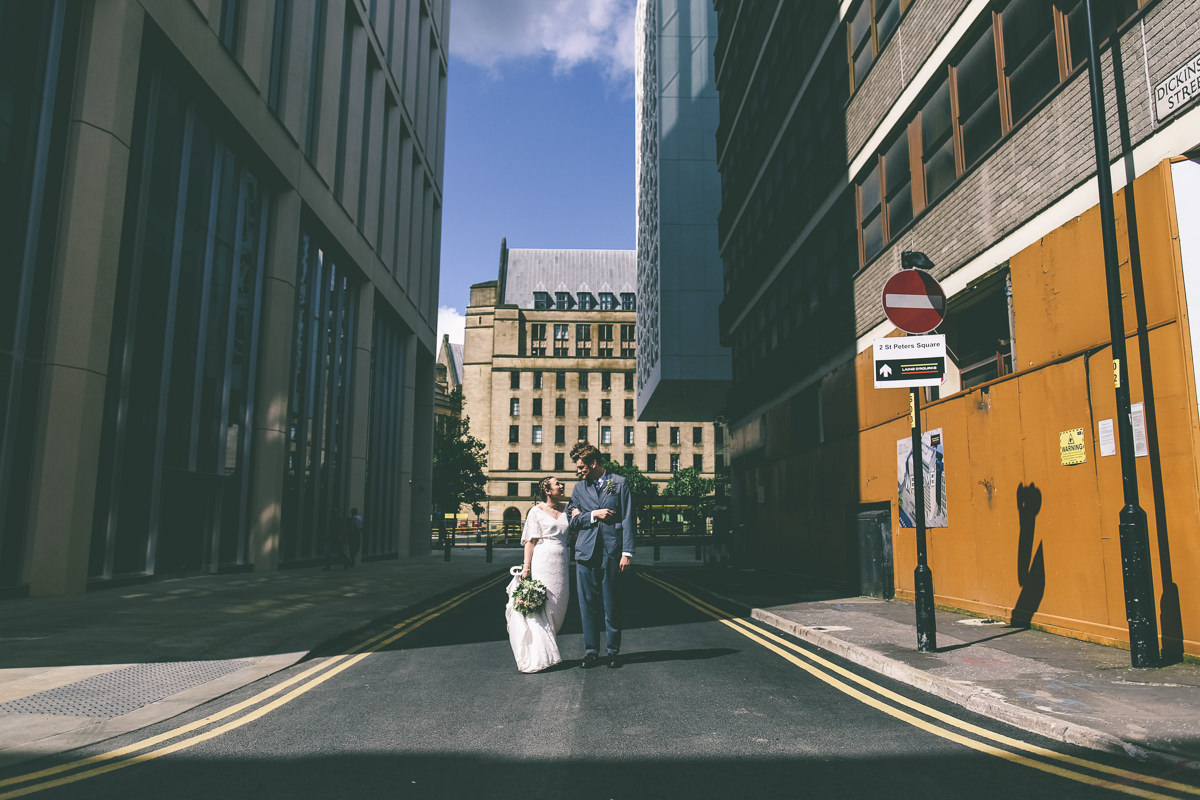 Urban Wedding Portraits Manchester