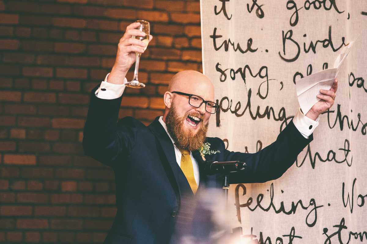 Victoria Warehouse Wedding Speeches