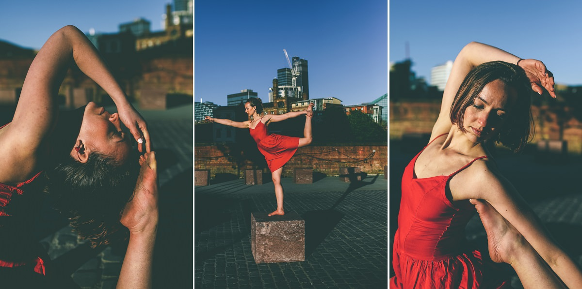 Red Dress Yoga Poses