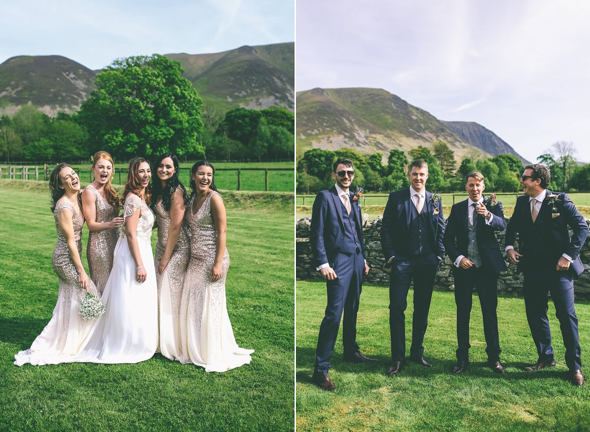 New House Farm Wedding Gruop Photographs