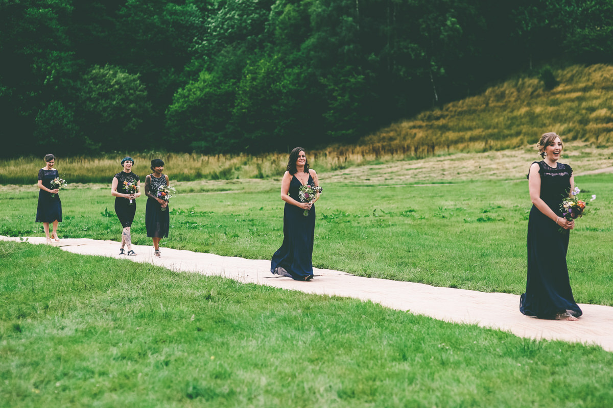 Outdoor Wedding Hidden River Cabins Cumbria