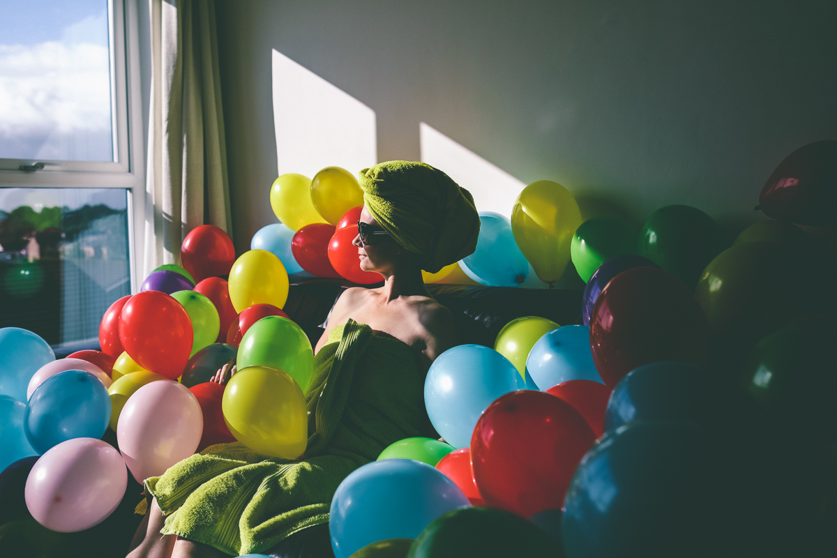 Portrait Photography with Balloons