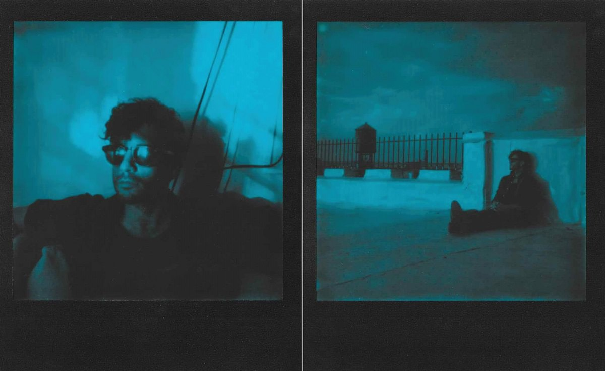 Polaroid Blue Film Portraits