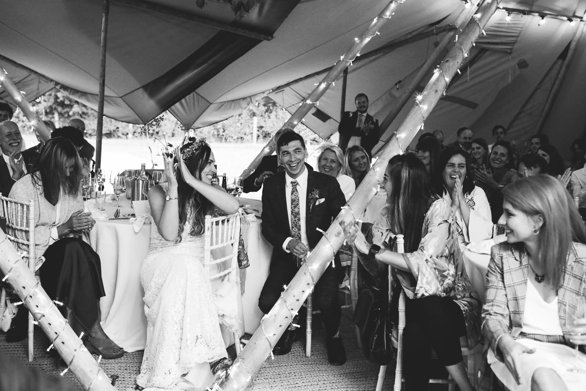 Speech Reactions Tipi Wedding