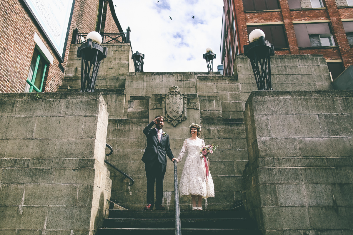 Stockport Plaza Wedding Portrait