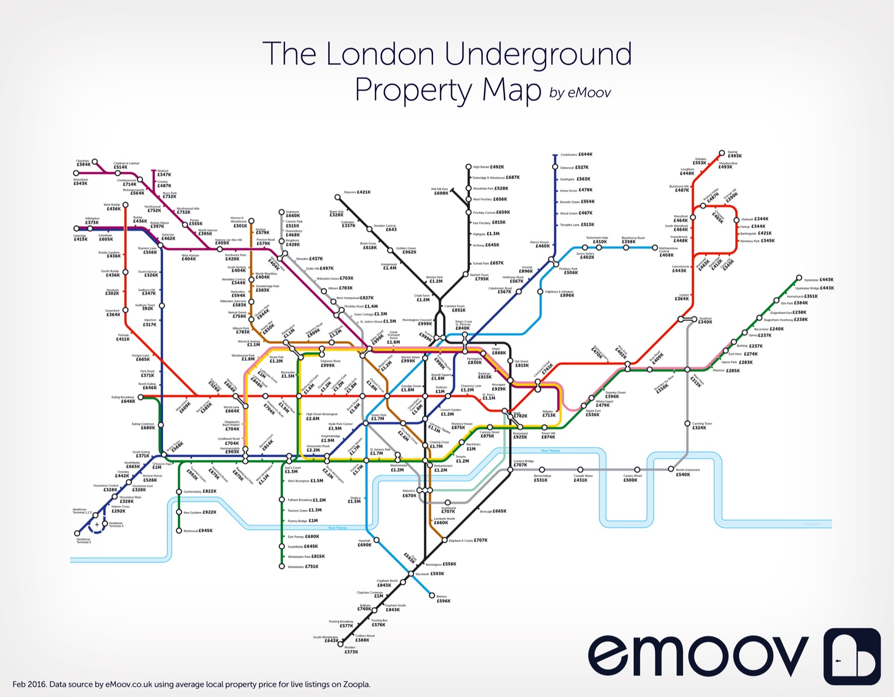 London Underground Property Map Reveals The Gaps In Prices Between - Northern line map london