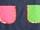 Bolsillos rosa y verde