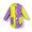 Amarillo + unicornio fucsia entero