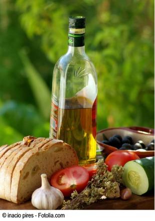 Aceite de oliva y verduras