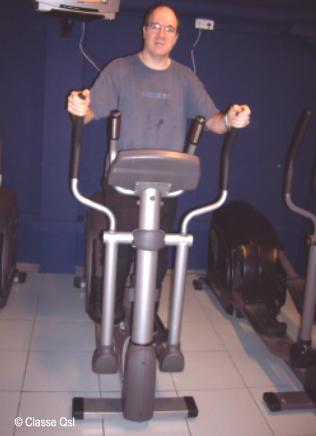 Máquina elíptica para el ejercicio cardiovascular