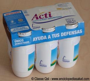 Lactobacilos casei envasados