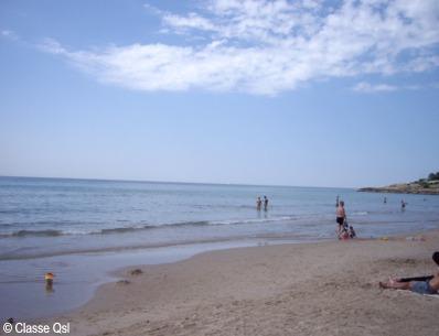 Talasoterapia: mar Mediterraneo en la Costa Dorada, Tarragona (Spain)
