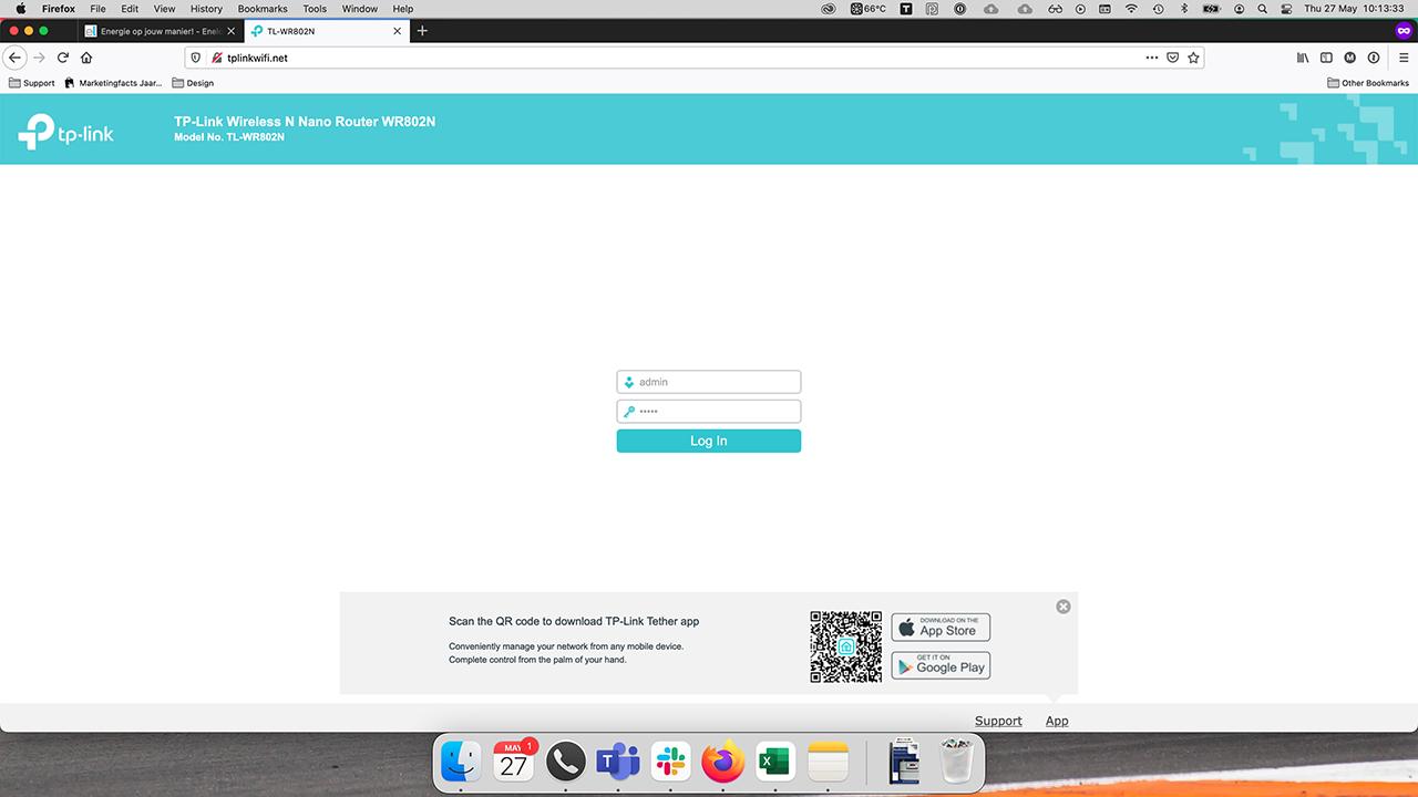 TP-Link interface login