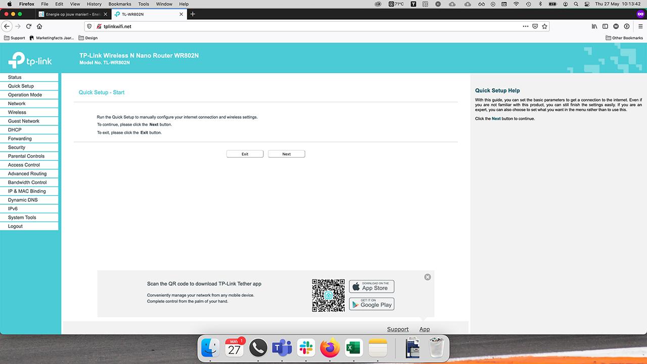 TP-Link interface quick start