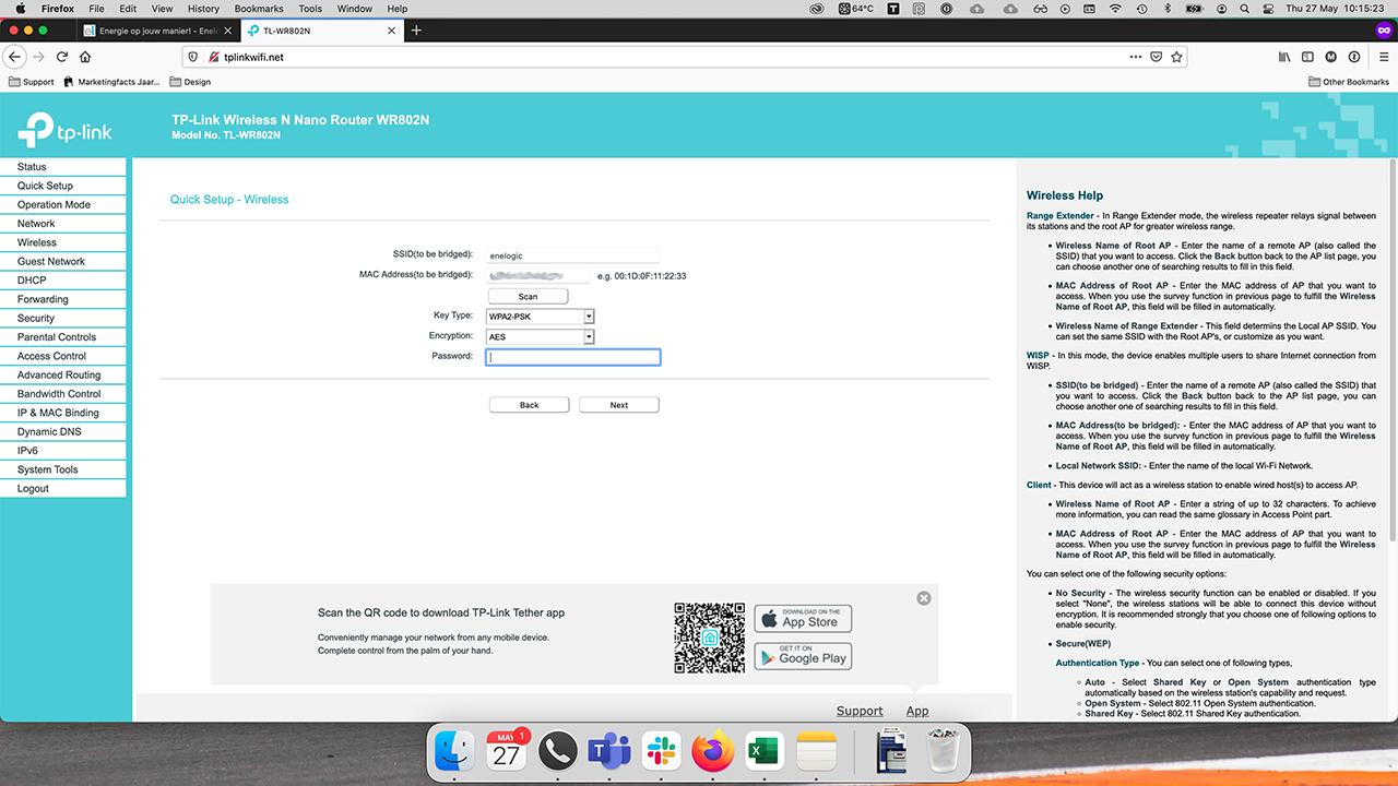 TP-Link interface configure AP
