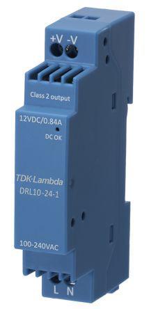 DRL-10 DIN Rail Power Supply, 10W, 24V dc/ 420mA