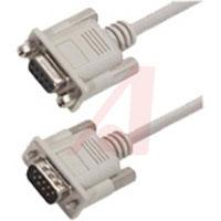 Cable, D-Sub; 5 ft.; 26 AWG; Stranded; Non Booted; Light Gray; UL Listed