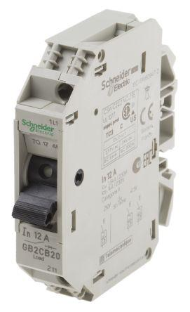 GB2CB20                                              Schneider Electric 12A 1P Pole Thermal Magnetic Circuit Breaker, 277 V ac, 415 V ac GB2