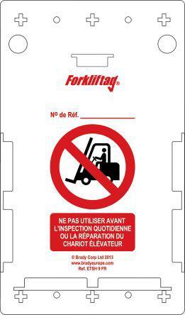 FLT-FR-ETSH-V2-A                                              Brady Forklift Tag Holder