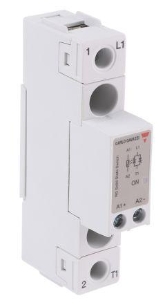 RGS1A23D25KKE                                              Carlo Gavazzi 25 A SPST Solid State Relay, Zero Crossing, Chassis Mount, 240 V ac Maximum Load