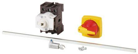 172873 | P1-32/M4/K1-PR                                              Eaton 3 Pole Panel Mount Non Fused Isolator Switch - 32 A Maximum Current, 18.5 kW Power Rating, IP65