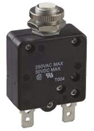 W58-XB1A4A-1                                              TE Connectivity 1A 1 Pole Thermal Magnetic Circuit Breaker, 50 V dc, 250 V ac W58