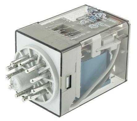 Finder 60.13.9.024.0040 24V Relay 3PDT DC 11-Pin