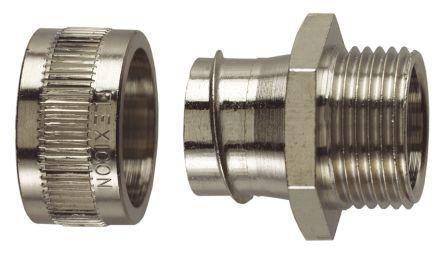 Flexicon Straight Cable Conduit Fitting, 316 Stainless Steel Satin 32mm nominal size IP40 M32