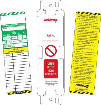 French Scafftag Scaffold Tagging Kit 10 Holders//10 Insert// 1 Pen Ne Pas Utiliser