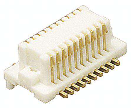 2 Rows, Receptacle 0.5 mm - Stacking Board Connector DF12 3.0 Surface Mount DF12 Series Pack of 20 20 Contacts 86 -20DS-0.5V