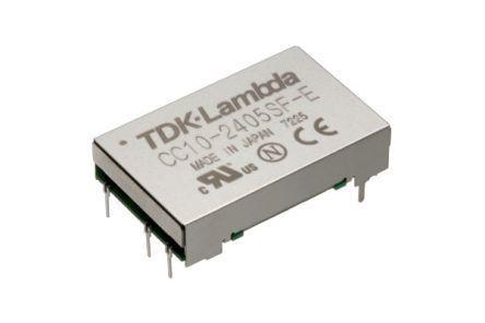 CC-10-2412SR-E                                              TDK-Lambda CC-E 10W Isolated DC-DC Converter, Voltage in 4.5, 9 V dc, Voltage out 12V dc