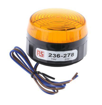 RS Pro 236234 Xenon Beacon Amber Flashing Surface Mount 110 Vac