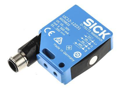 UC12-12231                                              Sick Ultrasonic Sensor Block, 55 → 250 mm, PNP, 4-Pin M12 Connector IP67