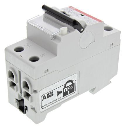 2CSR255040R1104                                              1+N 10 A RCBO, DIN Rail Mount, Trip Sensitivity 30mA System Pro M Compact DS201