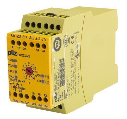 774500                                              Pilz 24 V dc Safety Relay Dual Channel with 2 Safety Contacts Compatible With Safety Switch/Interlock