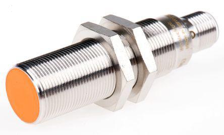 ifm electronic PNP Inductive Sensor 8 mm Detection Range, Barrel 70mm length, 10 → 36 V dc, IP68