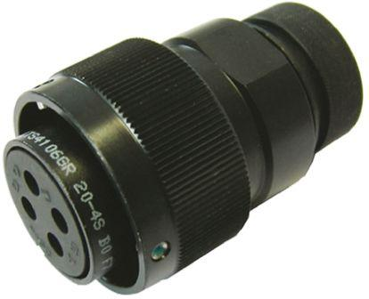 FRITS4106GR20-4PB0F7                                              Glenair ITS Series, 4 Pole Cable Mount Connector Plug, with Male Contacts