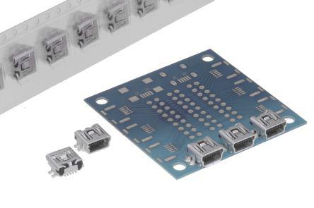 SMT SAMTEC   MUSB-05-S-AB-SM-A   MINI USB TYPE AB RECEPTACLE