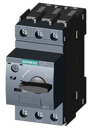 3RV2021-1GA10                                              Siemens Sirius Innovation 690 V ac Motor Protection Circuit Breaker, 3P 4.5 → 6.3 A, 100 kA @ 400 V ac