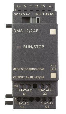 Siemens LOGO Expansion Module, 4 x Input, 4 x Output, 12 V, 24 V Supply Voltage, Input/Output