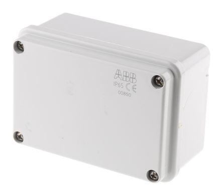 Thermoplastic IP55 Junction Box, 105 x 70 x 50mm, Grey